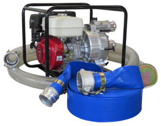 "3"" Honda Powered Trash Pump + Hose Kit"